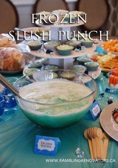 disney frozen birthday party slush punch recipe