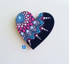 Mandala Dot Art Herzen Magnete The Effective Pictures We Offer You About Mandala Painting tree A qua Heart Painting, Dot Art Painting, Mandala Painting, Pebble Painting, Stone Painting, Mandala Painted Rocks, Mandala Rocks, Mandala Canvas, Mandala Art