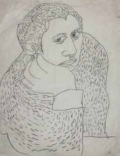Andy Warhol. Untitled ((Early Work) Woman). (c. 1946) / pencil on paper. A very early work from 1946.