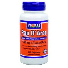 Now Pau D'Arco Herbal Supplement - Candida & Parasites - Greens & Detox | Body Energy Club Supplements
