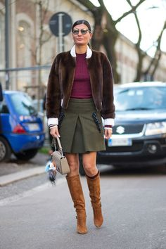 Latest Fashion Week Street Style. Giovanna and her Fendi bag bug at Milan Fashion Week Fall 2015 #MFW