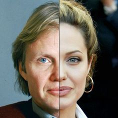 The Shocking Similarities Between Celebrities And Their Parents! • Angelina Jolie And Jon Voight Despite the color and format of the eyes, the faces of Angelina and her dad have a lot of similarities, particularly the nose and lips. • BoredBug