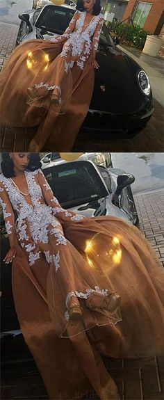 2018 Prom Dresses #2018PromDresses, Long Sleeves Prom Dresses #LongSleevesPromDresses, Prom Dresses Lace #PromDressesLace, A-Line Prom Dresses #ALinePromDresses