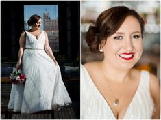 This Ashley & Justin bridal gown has a subtle bling we're such fans of! And the texture when the light from the Journeyman Kimpton's rooftop hits it - beautiful! Photo by Front Room Studios Milwaukee Art Museum, Bride Photography, Rooftop, Bridal Gowns, Wedding Venues, Studios, Fans, Bling, Texture