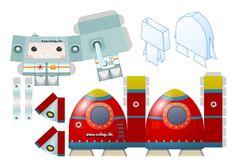 Space Toy - Paper Toy-Vorlage zum Ausdrucken, Ausschneiden und basteln. Nicht nur für Kinder. Trendy und dekorativ.
