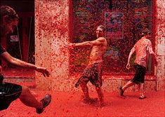 The Tomatina Festival! I want to go to this... possibly making it on my birthday! The last Wed of August.