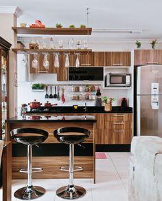 Cozinha pequena e aconchegante