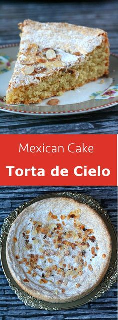 Torta de cielo is a particularly light almond flavored Mexican cake that is very easy to prepare. Authentic Mexican Desserts, Mexican Dessert Recipes, Mexican Cakes, Mexican Snacks, Mexican Drinks, Mexican Kitchens, Mexican Dishes, Comida Latina, International Recipes