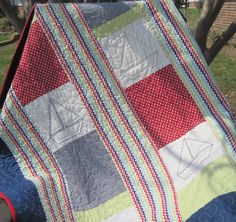 The Skipper Quilt.....a handmade baby quilt by LancasterRoad on Etsy