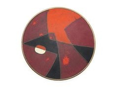 RESERVED Matte Enamel Modernist Dish  Mid by VintageInBloom
