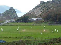 Lynton & Lynmouth CC in North Devon have one of the most beautiful Cricket… Cricket England, Homes England, Holidays In England, Play N Go, Rocky Shore, English Village, North Devon, Like Image, Walled City