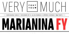 Marianina FY is a really big sans-serif family of 24 fonts.