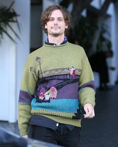 Only Matthew Gray Gubler could make a sweater like that look Sexy.