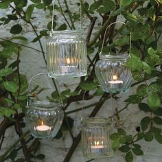 Tea light holders as table decoration or outside decorations!