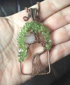 One of a Kind Copper and Gemstone Weeping by groovychickjewelry