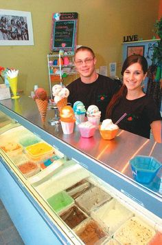 Awesome gelato down on Kingston's Strand!  Bella Mia's Lil' Italian Ice Shoppe at 23 West Strand