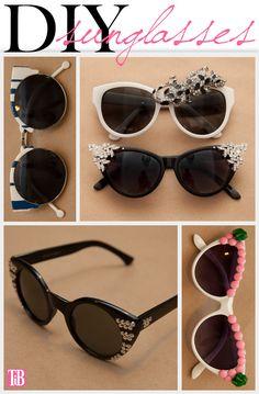 DIY Sunglasses from www.trinketsinbloom.com
