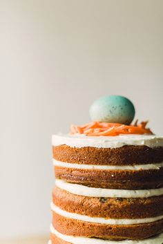 naked carrot cake -- for easter