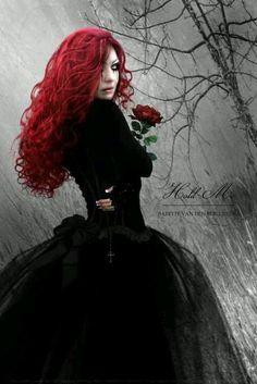 Goth Gothic girl redhead   Just like Desiree LeMort