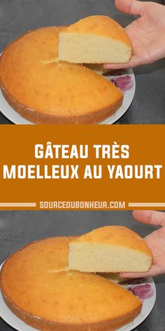 Gâteau très moelleux au yaourt Wrap Recipes, Veg Recipes, Easy Chicken Recipes, Healthy Dinner Recipes, Sweet Recipes, Cherry Desserts, No Cook Desserts, Dessert Recipes, Brownie Recipe Video