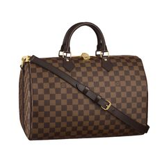 Louis Vuitton Speedy 35 With Shoulder Strap