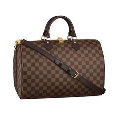 Louis Vuitton Speedy 35 With Shoulder Strap