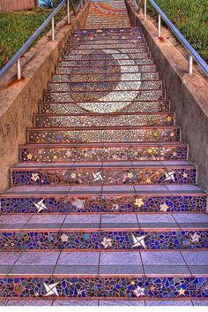 Cosmic mosaic stairs.