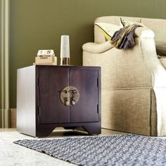 Yong Mahogany Bedside Table