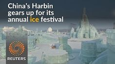 0:49  China's Harbin gets ready for its annual ice show
