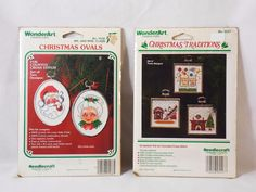 WonderArt Mr Mrs Santa Claus 5 Christmas Ornament Cross Stitch 2 Pack 5538 5547 #WonderArt #Ornament