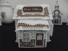 FSL Christmas Village - Post Office - Embroidery Online Embroidery Online, Machine Embroidery, Post Office, Christmas, Xmas, Navidad, Noel, Natal, Mail Center