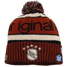 7493f8271 Old Time Hockey Original 6 Palisade Knit Hat - Orange