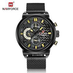NAVIFORCE luxury full stainless steel quartz-watch