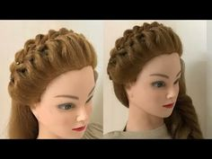 Easy & Beautiful Hairstyles for Wedding or Function Easy Hairstyles for Wedding or Function. Easy hairstyles for wedding, function, party or any occasion. Open Hairstyles, Everyday Hairstyles, Formal Hairstyles, Braided Hairstyles, Front Hair Styles, Medium Hair Styles, Pixie, Easy And Beautiful Hairstyles, Hair Puff