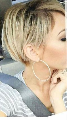 Blonde Layered Hair, Short, Bob, Pixie, Blonde, Layered, Fine