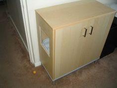 Ikea Effektiv cat box hack by maritza