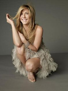 """One of Yahoo Beauty's fave celebs (Bobbi has interviewed the star three times!),Aniston is known for her effortless hair and gorgeous glow. Aniston revealed her secret to luminescent skin, """"I always give myself a good steam. Or I have an infrared hot box that I love that always gives me an extra boost or an extra glow to my skin."""" Her go-to products are for two brands she reps, Aveeno Positively Radiant moisturizer ($15) and the entire Living Proof line. (Photo: Peggy Sirota Trunk Arch..."""