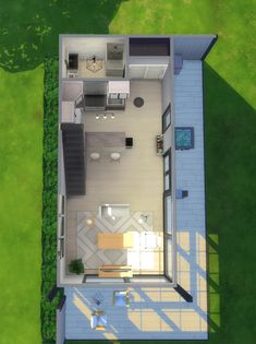 — Lovely Loft - No CC I barely ever build from. Sims 4 House Plans, Sims 4 House Building, Home Building Design, Modern House Plans, Sims 4 Houses Layout, House Layouts, Sims 4 Loft, Sims 3, Sims3 House