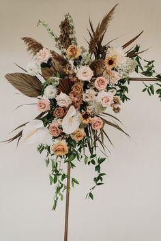 Wedding Flower Design, Wedding Arch Flowers, Vintage Wedding Flowers, Wedding Wreaths, Beach Wedding Decorations, Floral Wedding, Mustard Yellow Wedding, Yellow Wedding Colors, Burnt Orange Weddings