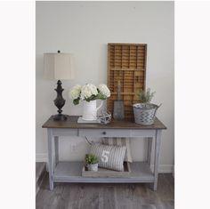 34 best farmhouse sofa table images homes diy ideas for home rh pinterest com grey sofa table ikea grey sofa table for sale