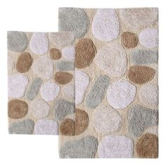 2 Piece Pebbles Bath Rugs, looks like stepping stones at a glance
