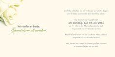 Seite 2 und 3. Diese beiden Seiten der Rosen-Hochzeitseinladung sind für alle Infos rund um Ihre Hochzeit vorgesehen.