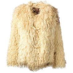 THE GATHERING GODDESS VINTAGE 1970s Mongolian curly coat (16 135 UAH) ❤ liked on Polyvore featuring outerwear, coats, jackets, farfetch, fur, vintage coat, fur coat, long sleeve coat, beige coat and vintage fur coat
