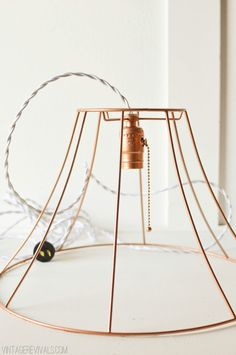 Rock What Ya Got: Upcycled Copper Wire Pendant Lights (from ugly lampshades!) - Vintage Revivals