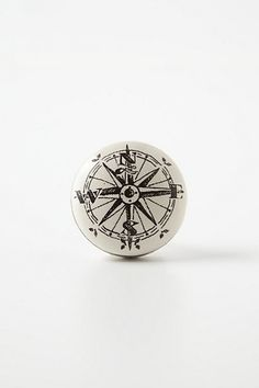 Lingenfelter Compass knob from Anthropologie. Audrey's room need any knobs? Dresser Drawer Knobs, Cabinet Knobs, Drawer Pulls, Door Knobs, Pine Dresser, Knobs And Handles, Knobs And Pulls, Nautical Nursery, Pirate Nursery