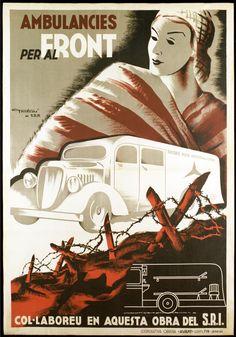 'Ambulancies Per Al Front' Print (Black Framed Poster Print Art Deco Posters, Car Posters, Artwork Prints, Poster Prints, Canvas Prints, Vintage Artwork, Vintage Posters, Retro Posters, Photografy Art