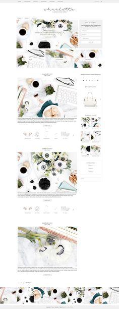 Charlotte - WordPress Theme by Bella Creative Studio on @creativemarket