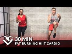 30 Minute Fat Burning HIIT Cardio Workout at Home for Women & Men - 30 Min Cardio Workouts - YouTube