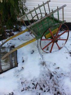 Early Old Primitive Goat Wagon Cart Original Paint AAFA | eBay