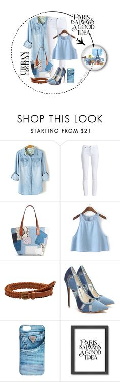 """""Paris is Always a Good Idea"" #patchwork"" by borislava-zo3bi ❤ liked on Polyvore featuring Barbour, Marc Jacobs, MANGO, GUESS and Americanflat"